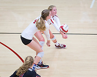 STANFORD, CA - November 4, 2018: Kate Formico,Meghan McClure at Maples Pavilion. No. 2 Stanford Cardinal defeated the Utah Utes 3-0.
