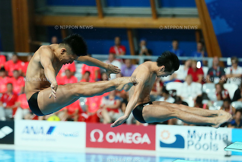 Sho Sakai &amp; Ken Terauchi (JPN), <br /> JULY 28, 2015 - Diving :<br /> 16th FINA World Championships Kazan 2015<br /> Men's 3m Springboard Synchronised <br /> Final <br /> at Aquatics Palace in Kazan, Russia.<br /> (Photo by Yohei Osada/AFLO SPORT)
