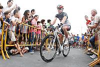 Laurent Didier during the stage of La Vuelta 2012 between Barakaldo and Valdezcaray.August 21,2012. (ALTERPHOTOS/Acero) /NortePhoto.com