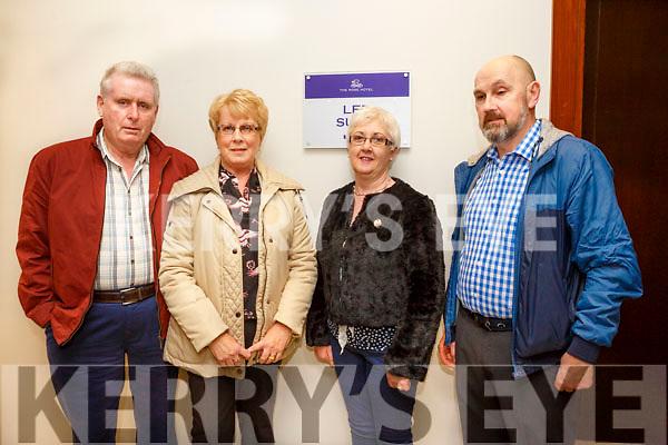 Enjoying the Mike Denver concert at the Rose Hotel on Friday were John O'Mahony, Mary O'Mahony, Sandra O'Sullivan and Noel O'Sullivan