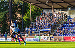 Uppsala 2014-06-26 Fotboll Superettan IK Sirius - IFK V&auml;rnamo :  <br /> Sirius supportrar klack V&auml;stra Sidan p&aring; Studenternas huvudl&auml;ktare under matchen<br /> (Foto: Kenta J&ouml;nsson) Nyckelord:  Superettan Sirius IKS Studenternas IFK V&auml;rnamo supporter fans publik supporters