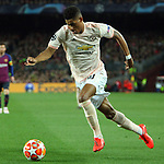 UEFA Champions League 2018/2019.<br /> Quarter-finals 2nd leg.<br /> FC Barcelona vs Manchester United: 3-0.<br /> Marcus Rashford.