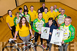 Pictured at the launch of the John O'Shea Memorial Cycle on Friday at the Hall in Dromid were front l-r; Liane Teahan(Group 135), Kieran O'Shea, Joan O'Shea, Mike O'Shea, back l-r; Grace O'Connor, Mary Dowd, Kitty Mangan, Pauline Sugrue, Saidhbh O'Sullivan, Michael O'Sullivan, Kayleigh Hussey, Sean O'Connor, Eoin Ryan, John Keating, Brendan O'Shea, Noreen & John O'Neill.  All  proceeds from the cycle will go to the Irish Pilgrimage Trust Group 135.