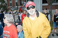 Trump supporters yell insults about communism to Democratic presidential candidate supporters from the side of the Labor Day Parade in Milford, New Hampshire, on Mon., September 2, 2019. Candidates Bernie Sanders and Vermin Supreme were the only candidates who marched in the parade this year.