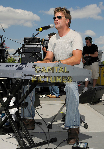 RICHIE McDONALD.2008 CMA Music Festival Greased Lightning Riverfront Daytime Stage, Nashville, Tennessee, USA, .05 June 2008..country music microphone concert gig on stage full length playing keyboard sunglasses.CAP/ADM/LF.©Laura Farr/Admedia/Capital PIctures