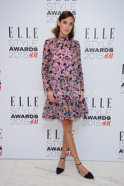 WWW.ACEPIXS.COM<br /> <br /> February 24 2015, London<br /> <br /> Alexa Chung arriving at the ELLE style awards 2015 at the Walkie Talkie Tower on February 24 2015 in London<br /> <br /> By Line: Famous/ACE Pictures<br /> <br /> <br /> ACE Pictures, Inc.<br /> tel: 646 769 0430<br /> Email: info@acepixs.com<br /> www.acepixs.com