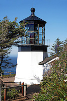 Cape Meares Lighthouse dates back to the early 1700's and sits at the north end of the 20-mile Three Capes Scenic Look along the Oregon coast. It is 38 feet tall and located on a 217-foot cliff in Tillamook, Oregon.