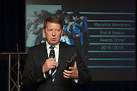 Journalist and presenter, Bill Turnbull during the Wycombe Wanderers End of Season 2016 Awards Dinner at Adams Park, High Wycombe, England on 1 May 2016. Photo by David Horn
