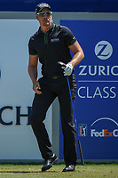 Henrik Stenson (SWE) watches his tee shot on 1 during Round 4 of the Zurich Classic of New Orl, TPC Louisiana, Avondale, Louisiana, USA. 4/29/2018.<br /> Picture: Golffile | Ken Murray<br /> <br /> <br /> All photo usage must carry mandatory copyright credit (&copy; Golffile | Ken Murray)
