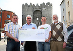 Joe Stafford, John O'Shea, Geoff Fitzpatrick and Alistair McAlister at the Presentation of proceeds from the Boyne 10k run to GOAL...Photo NEWSFILE/Jenny Matthews.(Photo credit should read Jenny Matthews/NEWSFILE)....This Picture has been sent you under the condtions enclosed by:.Newsfile Ltd..The Studio,.Millmount Abbey,.Drogheda,.Co Meath..Ireland..Tel: +353(0)41-9871240.Fax: +353(0)41-9871260.GSM: +353(0)86-2500958.email: pictures@newsfile.ie.www.newsfile.ie.FTP: 193.120.102.198.