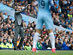 Josep Guardiola manager of Manchester City during the English Premier League match at the Etihad Stadium, Manchester. Picture date: May 6th 2017. Pic credit should read: Simon Bellis/Sportimage