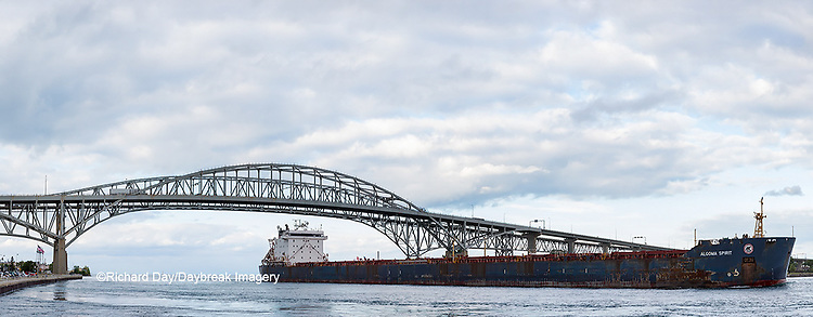 64795-01609 Ship and Blue Water Bridge Port Huron, MI