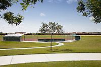 Baseball Field at Mossdale Landing Community Park in Lathrop California