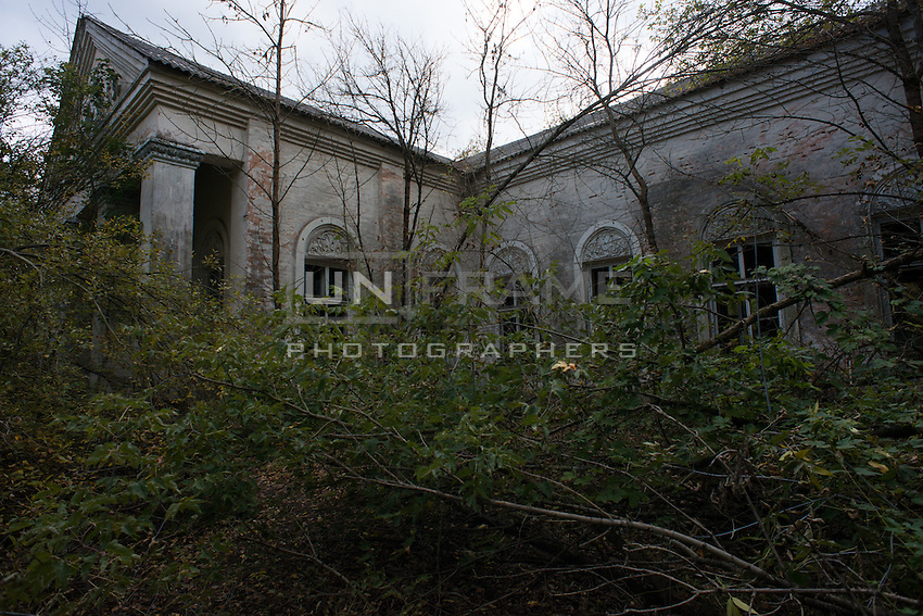 Center of a small nameless abandoned village few kilometers from Chernobyl power plant.