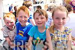 Tadhg and Eoghan Ó Dubhain, Mattie Ó Halloran and Aoileann Ní Dhubhain, from Baileiochtarach, Dingle, on the boat enjoying the blessing of the boats during Féile Na Mara, Dingle, over the weekend.