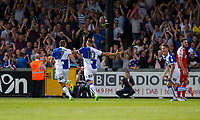Billy Bodin of Bristol Rovers (10) celebrates scoring his side's second goal during the Sky Bet League 1 match between Bristol Rovers and Fleetwood Town at the Memorial Stadium, Bristol, England on 26 August 2017. Photo by Mark  Hawkins.