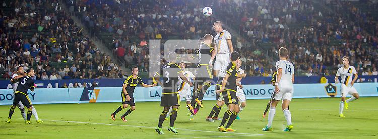 Carson, CA - September 3, 2016: The LA Galaxy defeat the Columbus Crew 2-1 in a Major League Soccer (MLS) match at StubHub Center.