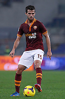 Calcio, Serie A: Roma vs ChievoVerona. Roma, stadio Olimpico, 31 ottobre 2013.<br /> AS Roma midfielder Miralem Pjanic, of Bosnia, in action during the Italian Serie A football match between AS Roma and ChievoVerona at Rome's Olympic stadium, 31 October 2013.<br /> UPDATE IMAGES PRESS/Isabella Bonotto