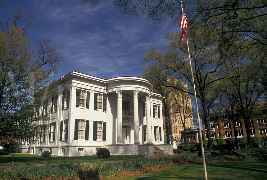 Jackson, Mississippi, MS, Governor's Mansion a neoclassical in Jackson in the spring.