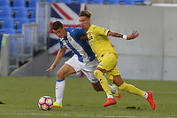 Leganes'es Adrian Marin and Villarreal's Samu Castillejo during the XXXVII trophy of Legane's City between CD Leganes and Villarreal CF at Butarque Stadium. August 13, 2016. (ALTERPHOTOS/Rodrigo Jimenez) /NORTEPHOTO