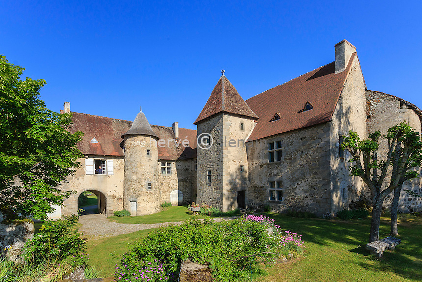 France, Creuse (23), Ahun, château de Chantemille // France, Creuse,, Ahun,