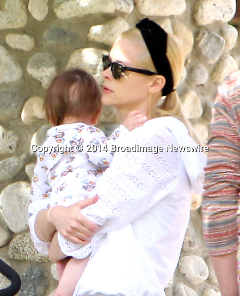 Pictured: <br /> Mandatory Credit &copy; ACLA/Broadimage<br /> Jaime King, husband Kyle Newman and baby James at the Coldwater Canyon Park in Beverly Hills<br /> <br /> 3/29/14, Beverly Hills, California, United States of America<br /> <br /> Broadimage Newswire<br /> Los Angeles 1+  (310) 301-1027<br /> New York      1+  (646) 827-9134<br /> sales@broadimage.com<br /> http://www.broadimage.com