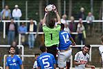 Roman Soelter #1 of FC Germania Friedrichstal, Niko Pavic #14 of VfR Mannheim im Spiel des VfR Mannheim - FC Germania Friedrichstal.<br /> <br /> Foto © P-I-X.org *** Foto ist honorarpflichtig! *** Auf Anfrage in hoeherer Qualitaet/Aufloesung. Belegexemplar erbeten. Veroeffentlichung ausschliesslich fuer journalistisch-publizistische Zwecke. For editorial use only.