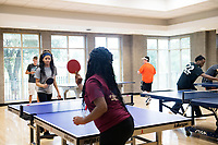 Dawg Days URec - students play table tennis in Sanderson.  Daija Coffee (dac478).<br />  (photo by Megan Bean / &copy; Mississippi State University)