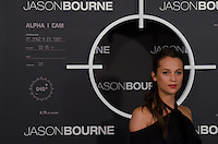 US actress Alicia Vikander attends the photocall of 'Jason Bourne' in Madrid, Spain. July 13, 2016. (ALTERPHOTOS/Marcos Menendez) /NORTEPHOTO