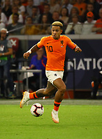 Memphis Depay (Niederlande) - 13.10.2018: Niederlande vs. Deutschland, 3. Spieltag UEFA Nations League, Johann Cruijff Arena Amsterdam, DISCLAIMER: DFB regulations prohibit any use of photographs as image sequences and/or quasi-video.