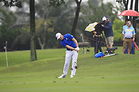Alex Noren (Europe) on the 8th fairway during the Friday Foursomes of the Eurasia Cup at Glenmarie Golf and Country Club on the 12th January 2018.<br /> Picture:  Thos Caffrey / www.golffile.ie
