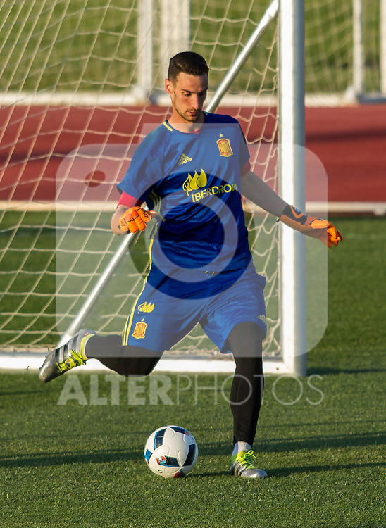 Spain's Sergio Rico during the first training of the concentration of national soccer team before the Uefa Euro 2016.  Jun 4,2016. (ALTERPHOTOS/Rodrigo Jimenez)