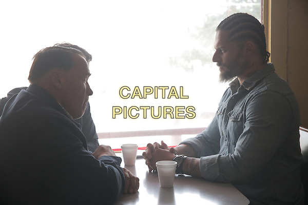 Joe Manganiello, Arnold Schwarzenegger <br /> in Sabotage (2014) <br /> *Filmstill - Editorial Use Only*<br /> CAP/FB<br /> Image supplied by Capital Pictures