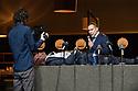 "Toneelgroep Amsterdam presents<br /> ""Roman Tragedies"", a seamless interpretation of William Shakespeare's ""Coriolanus"", Julius Caesar"" and ""Anthony and Cleopatra"", in the Barbican Theatre. The Barbican first introduced Toneelgroep Amsterdam to UK audiences in 2009 with this same production. Picture shows: Julius Caesar - Thorsten Alofs (Camera Operator), Hans Kesting (Marcus Antonius), Hugo Koolschijn (Julius Caesar)"