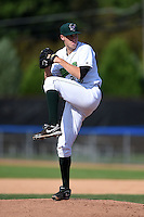 Jamestown Jammers pitcher Alex McRae (29) delivers a pitch during a game against the Vermont Lake Monsters on July 13, 2014 at Russell Diethrick Park in Jamestown, New York.  Jamestown defeated Vermont 6-2.  (Mike Janes/Four Seam Images)