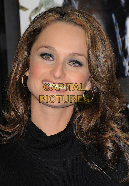 "GIADA DE LAURENTIIS.Overature Pictures' L.A. Premiere of ""Mad Money"" held at The Mann Village Theatre in Westwood, California, USA..January 9th, 2008.headshot portrait hoop earrings .CAP/DVS.©Debbie VanStory/Capital Pictures"
