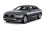 2018 Volvo S90 Momentum 4 Door Sedan angular front stock photos of front three quarter view
