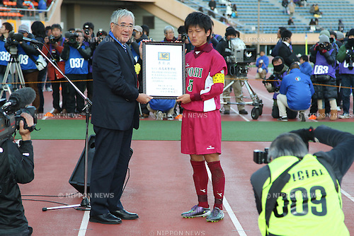 (L to R) Junji Ogura, Minami Sanpei (Shoshi), JANUARY 7, 2012 - Football /Soccer : 90th All Japan High School Soccer Tournament semi-final between Shoshi 1-6 Yokkaichi Chuo Kogyo at National Stadium, Tokyo, Japan. (Photo by YUTAKA/AFLO SPORT) [1040]