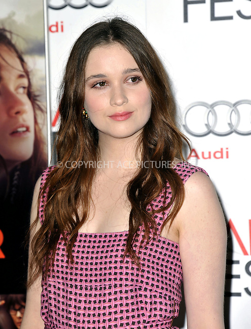 WWW.ACEPIXS.COM....November 7, 2012, Los Angeles, CA.......Alice Englert arriving at the 'Ginger And Rosa' screening at AFI Fest 2012 at Grauman's Chinese Theatre on November 7, 2012 in Hollywood, California........By Line: Peter West/ACE Pictures....ACE Pictures, Inc..Tel: 646 769 0430..Email: info@acepixs.com