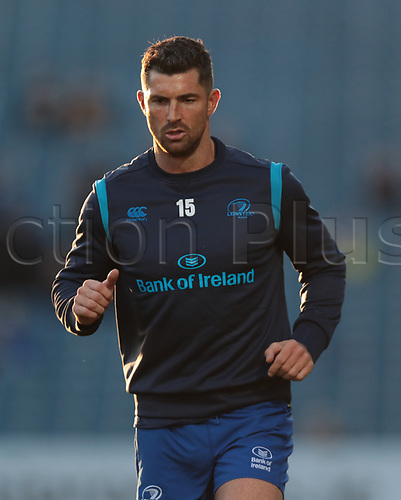 8th September 2017, RDS Arena, Dublin, Ireland; Guinness Pro14 Rugby, Leinster versus Cardiff Blues; Rob Kearney (Leinster) during warm-up