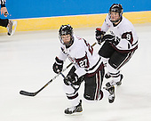 Jeremy Welsh (Union - 27), Daniel Carr (Union - 9) - The University of Minnesota-Duluth Bulldogs defeated the Union College Dutchmen 2-0 in their NCAA East Regional Semi-Final on Friday, March 25, 2011, at Webster Bank Arena at Harbor Yard in Bridgeport, Connecticut.