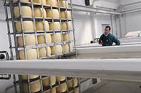 - Pozzali food industries Trescore Cremasco (Cremona), production of cheese Grana Padano DOP, tanks for salting....- Pozzali Industrie Alimentari a Trescore Cremasco (Cremona), produzione del formaggio Grana Padano DOP;  vasche per la salatura