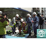 Members of the rescue services assist an injured passenger at Kodenmacho Subway Station after the Sarin Gas Attack on March 20th, 1995 in Tokyo, Japan.  At around 8.00am in the morning members of the Aum Shirikyo Doomsday Cult released poisonous Sarin Gas in five coordinated attacks on trains travelling through Kasumigaseki and Nagatacho stations. This resulted in the death of 13 passengers and staff and over 6,000 injuries and was Japan's deadliest act of domestic terrorism. (Photo by Yomiuri Newspaper/AFLO)