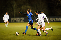 Seattle, WA - Thursday, March, 08, 2018: Lauren Barnes during a preseason match between the Seattle Reign FC and University of Washington at Husky Soccer Stadium.