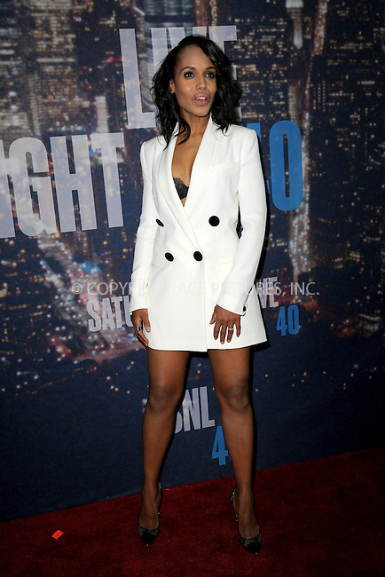 WWW.ACEPIXS.COM<br /> February 15, 2015 New York City<br /> <br /> Kerry Washington walking the red carpet at the SNL 40th Anniversary Special at 30 Rockefeller Plaza on February 15, 2015 in New York City.<br /> <br /> Please byline: Kristin Callahan/AcePictures<br /> <br /> ACEPIXS.COM<br /> <br /> Tel: (646) 769 0430<br /> e-mail: info@acepixs.com<br /> web: http://www.acepixs.com