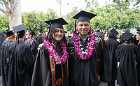 Families, friends, faculty, staff and distinguished guests celebrate the class of 2019 during Occidental College's 137th Commencement ceremony on Sunday, May 19, 2019 in the Remsen Bird Hillside Theater.<br /> <br /> (Photo by Allen Li, Occidental College class of 2020)