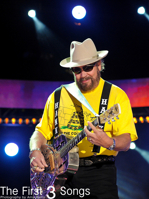 Hank Williams Jr. performs at LP Field during the 2012 CMA Music Festival on June 07, 2011 in Nashville, Tennessee.
