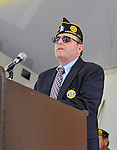 American Legion Merrick Post 1282 member Robert Dishman, the cochair of Merrick Memorial Day Parade and Ceremony on May 28, 2012, on Long Island, New York, USA. America's war heroes are honored on this National Holiday.