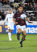25 October 08: Rapids midfielder Pablo Mastroeni advances the ball against Real Salt Lake. Real Salt Lake tied the Colorado Rapids 1-1 at Dick's Sporting Goods Park in Commerce City, Colorado. The tie advanced Real Salt Lake to the playoffs.
