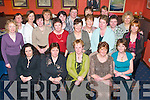 KGH: Marie OConnor of Kilcummin (seated centre) celebrating her leaving from Kerry General Hospital, along with friends and colleagues in Kirbys Brogue Inn, Tralee, on Friday evening..
